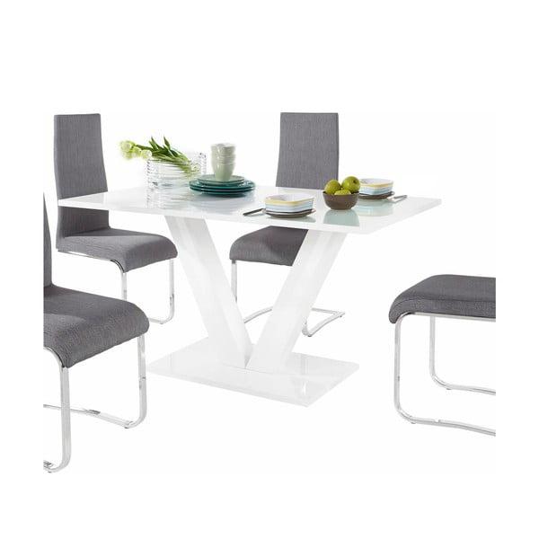 Sada stolu a 4 šedých židlí Støraa Aaron