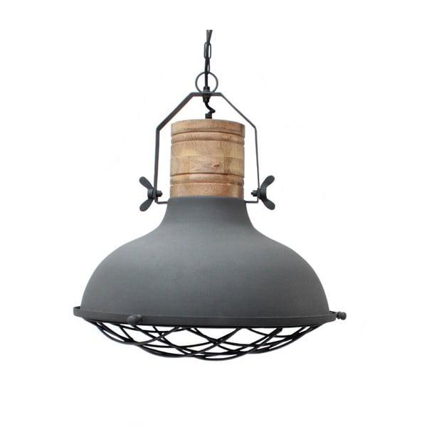 Szara lampa sufitowa LABEL51 Grid, ⌀52cm
