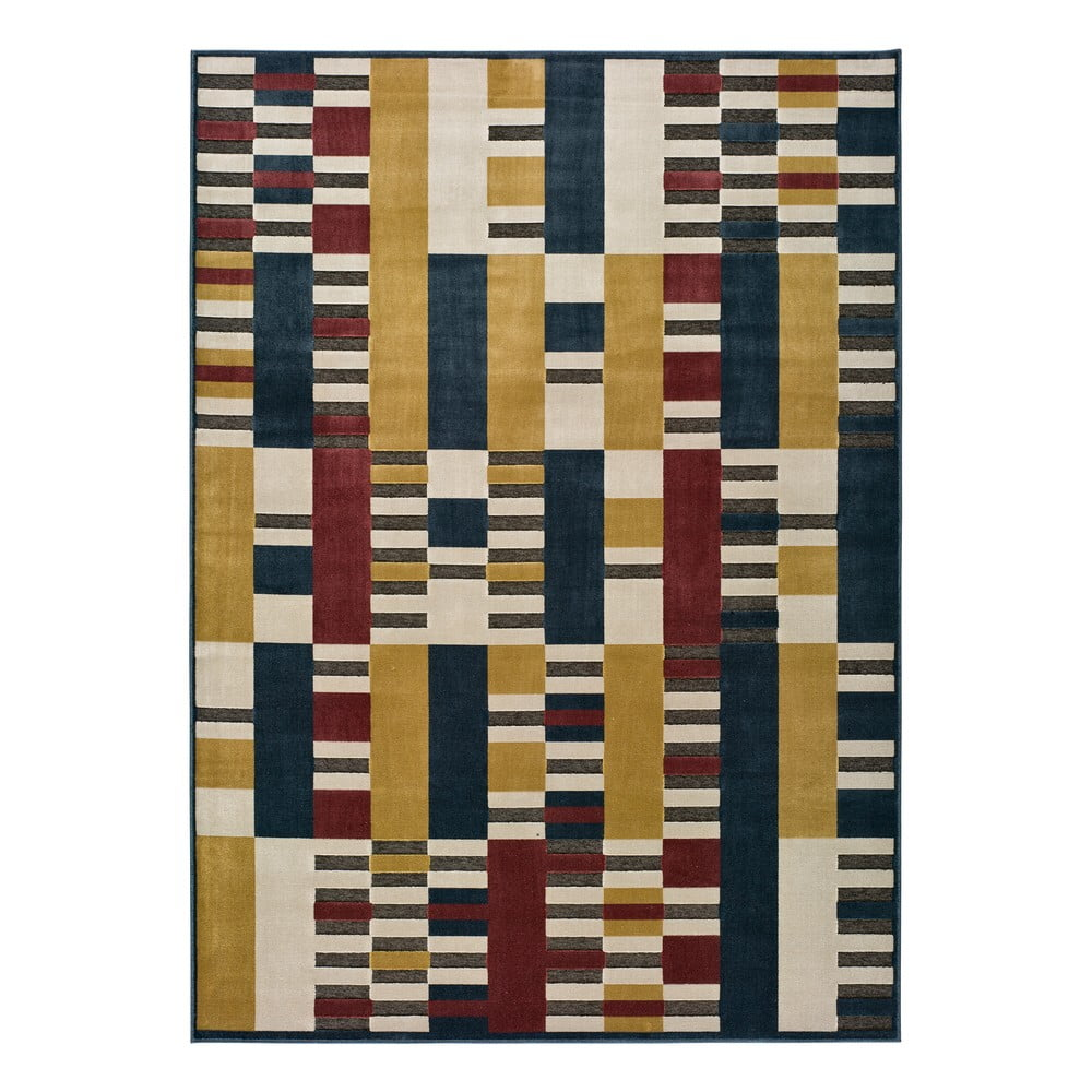 Žlutý koberec Universal Farashe Stripes, 120 x 170 cm
