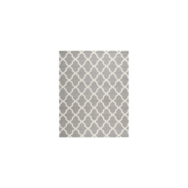 Vlněný koberec Ava Light Grey, 243x304 cm