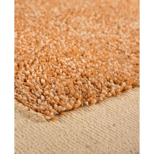 Vlněný koberec Dama no. 610, 120x160 cm, oranžový