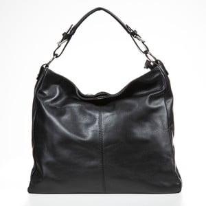 Černá kožená kabelka Mila Blu Breithorn
