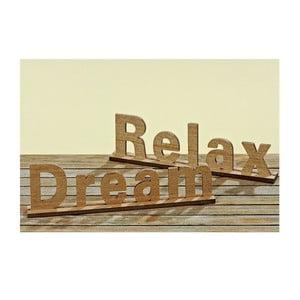 Sada 2 dekorativních nápisů Relax and Dream