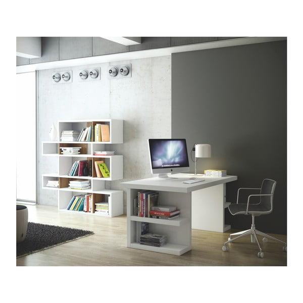 Bílý pracovní stůl TemaHome Multi, délka 180 cm