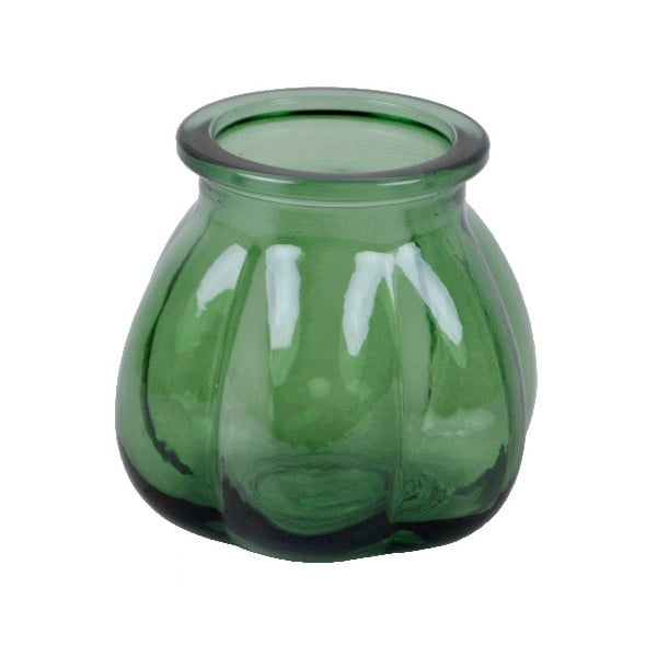 Zelená váza z recyklovaného skla Ego Dekor Tangerine, výška 11 cm