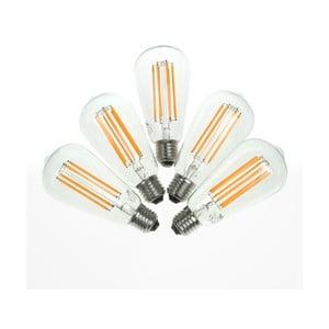 Sada 5 LED žárovek Bulb Attack MARINE Linear, E27 6,5 W