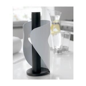 Bílo-černý držák na ubrousky Steel Function Pisa