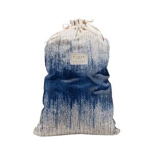 Látkový vak na prádlo Linen Couture Bag Blue Hippy, výška 75 cm