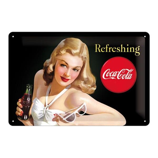 Plechová cedule Woman And Coke