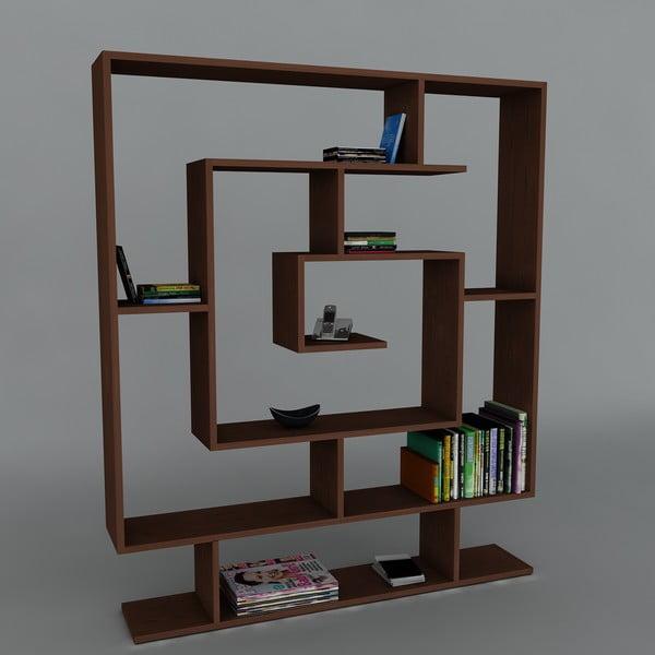 Knihovna Samasik Wenge, 22x124,8x149,4 cm