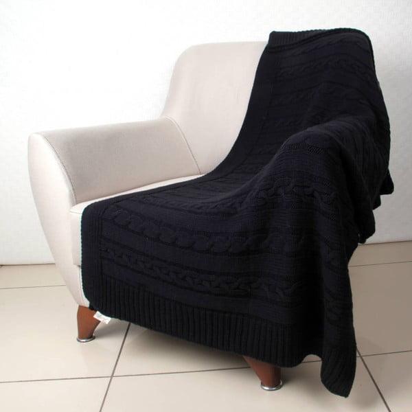 Černý přehoz Dodo, 130 x 170 cm