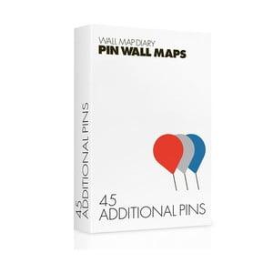 Piuneze de rezervă pentru hărți Pin World, 45 buc.