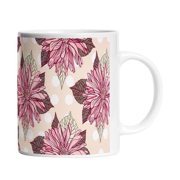 Keramický hrnek Dahlia Flower, 330 ml