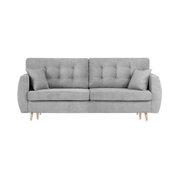 Canapea extensibilă cu 3 locuri și spațiu pentru depozitare Cosmopolitan design Amsterdam 231x98x95cm gri