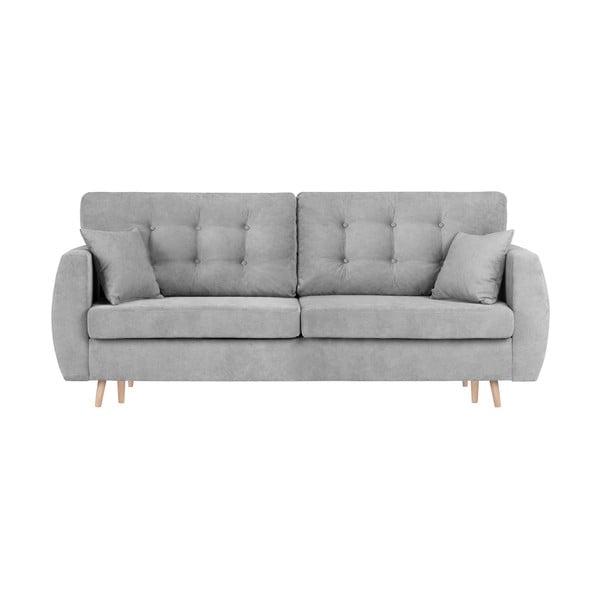 Amsterdam háromszemélyes szürke kinyitható kanapé tárolóval, 231 x 98 x 95 cm - Cosmopolitan design