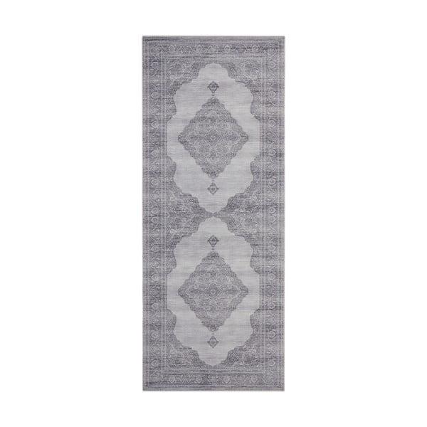 Světle šedý koberec Nouristan Carme, 80 x 200 cm