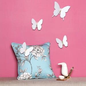 Sada 12 bílých 3D samolepek Ambiance Ambiance Diamond Butterflies