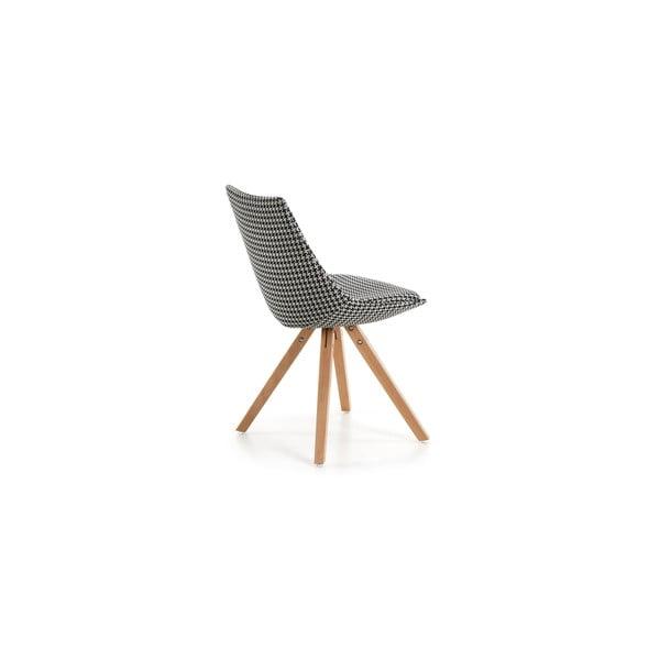 Černobílá židle La Forma Armony