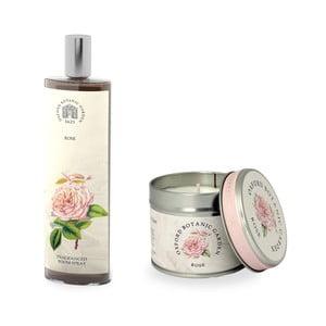 Set interierového vonného spreje a svíčky s vůni růže Bahoma London Fragranced