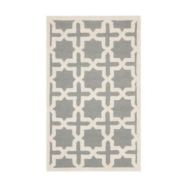 Šedý vlněný koberec Safavieh Marina, 121x182 cm