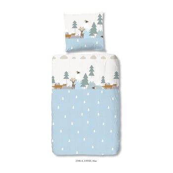 Lenjerie de pat din bumbac satinat pentru copii Good Morning Kenzo 140 x 200 cm