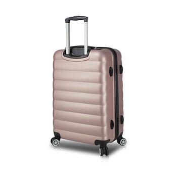 Valiză cu roți și port USB My Valice COLORS RESSNO Large, roz imagine
