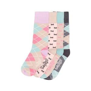 Sada 4 párů barevných ponožek Funky Steps Choco, vel. 35-39