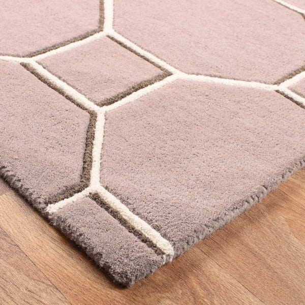 Vlněný koberec Cassin Beige 120x170 cm