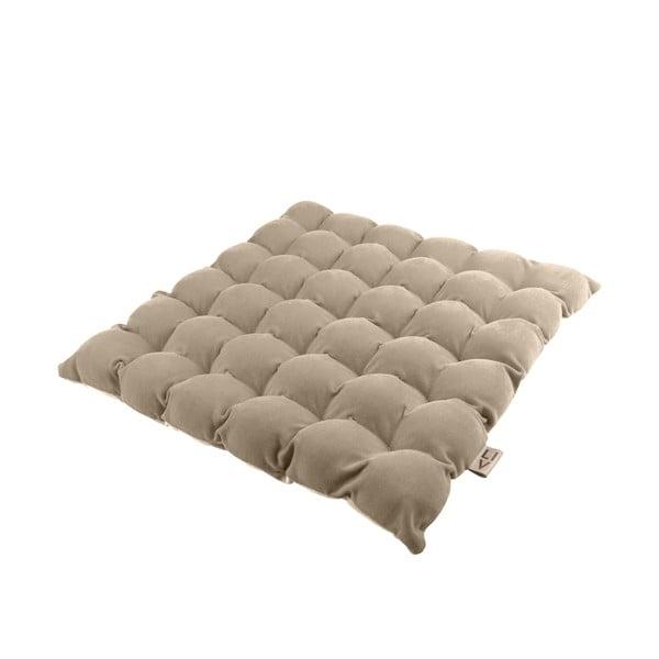 Beżowa poduszka do siedzenia z piłkami do masażu Linda Vrňáková Bubbles, 65x65 cm