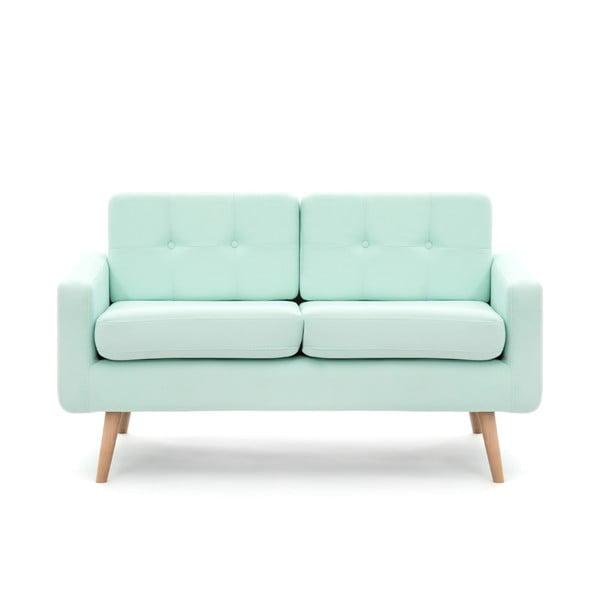 Pastelowozielona sofa dwuosobowa VIVONITA Ina