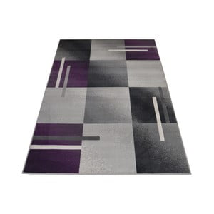 Fialovošedý koberec Webtappeti Modern, 140x200cm