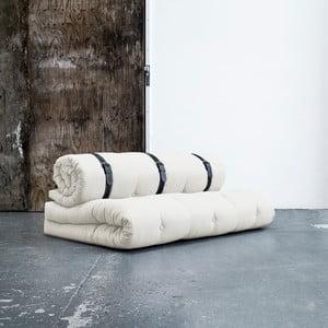 Variabilní pohovka s bíle prošívanými koženými pásky Karup Buckle Up Natural