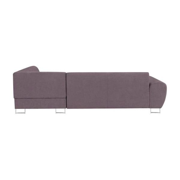 Canapea extensibilă cu spațiu pentru depozitare Kooko Home XL Left Corner Sofa, mov