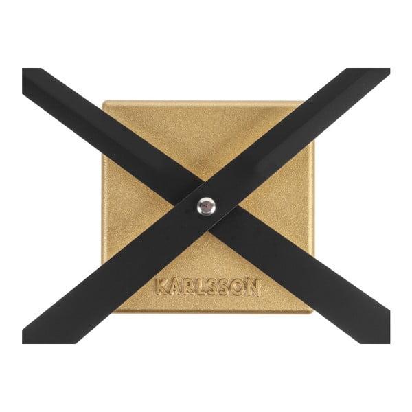 Nástěnné hodiny ve zlaté barvě Karlsson Do It Yourself