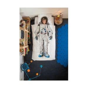 Lenjerie de pat de o persoană, din bumbac Snurk Astronaut 135 x 200 cm