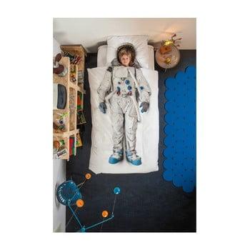 Lenjerie de pat de o persoană, din bumbac Snurk Astronaut 135 x 200 cm de la Snurk