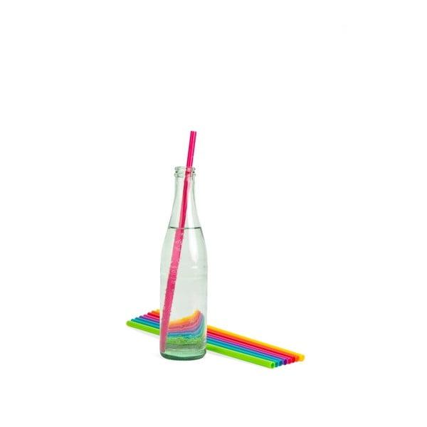 Sada 24 plastových brček Kikkerland Party, délka 37 cm