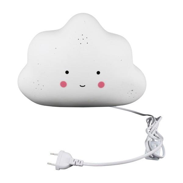 Felhő formájú gyerek porcelán kislámpa - Le Studio