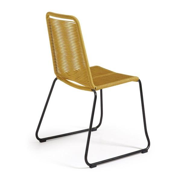 Sada 4 hořčicově žlutých židlí La Forma Meagan