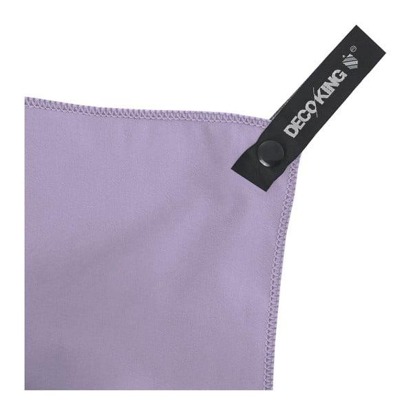 Sada 2 světle fialových rychleschnoucích ručníků DecoKing EKEA, 30 x 50 cm