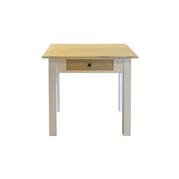 Jídelní stůl Charlston White, 80x80x78 cm