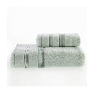 Zelený ručník s podílem bambusu Marie Lou, 90 x 50 cm