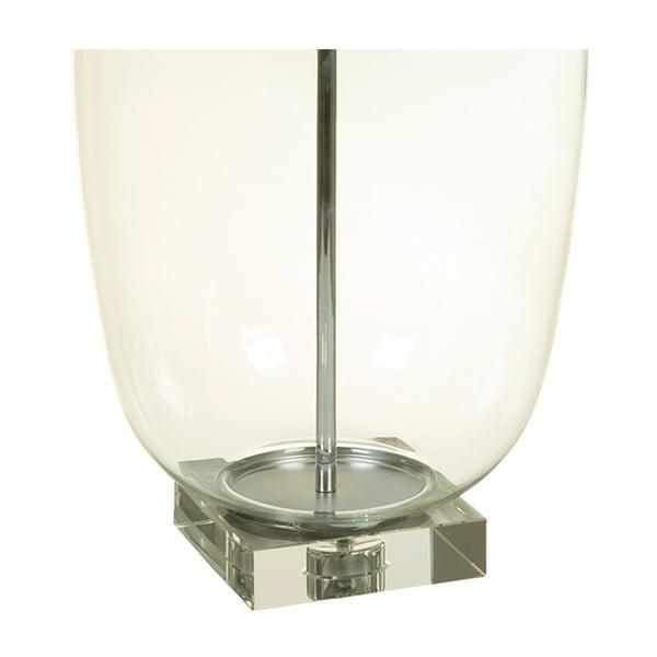 Bílá stolní lampa s křišťálovou základnou Santiago Pons Klea