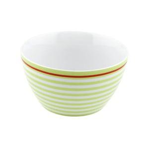Porcelánová miska Lines, zelená 4 ks