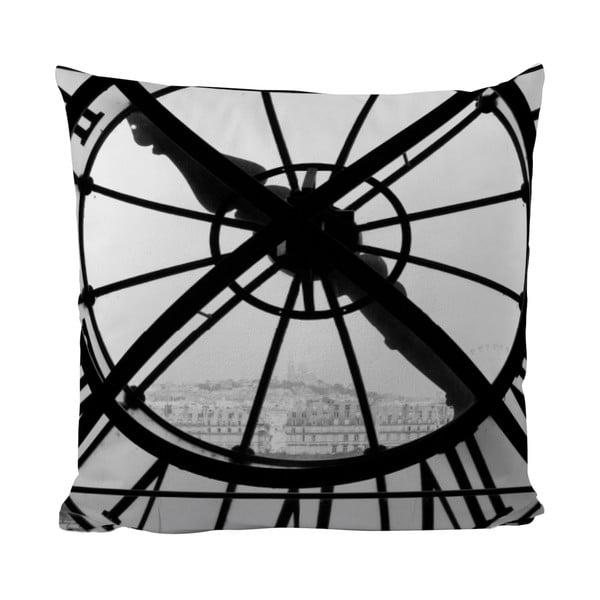 Polštářek Black Shake Big Clock, 50x50 cm