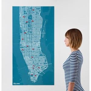 Pin City New York, modrá