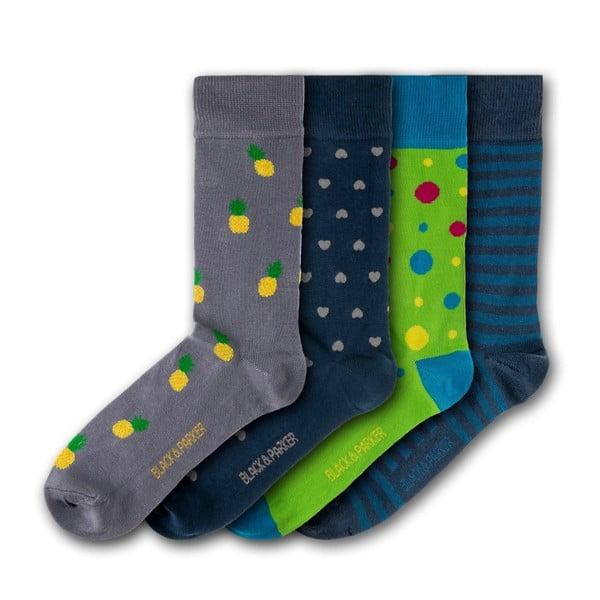 Sada 5 párov unisex ponožiek Black&Parker London Trelissick Garden, veľkosť 37 - 43