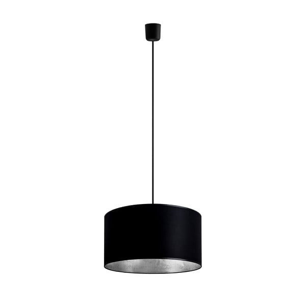 Stropní lampa Tres, černá/stříbrná, průměr 36 cm