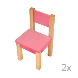 Sada 2 růžových dětských židliček Mobi furniture Mario