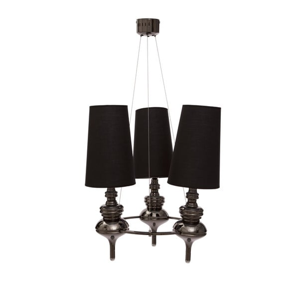 Černé stropní svítidlo Mauro Ferretti Da Soffitto